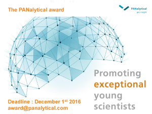 The PANalytical award 2016